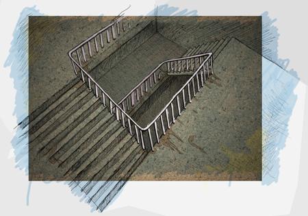 Treppenhaus Entwurf 1